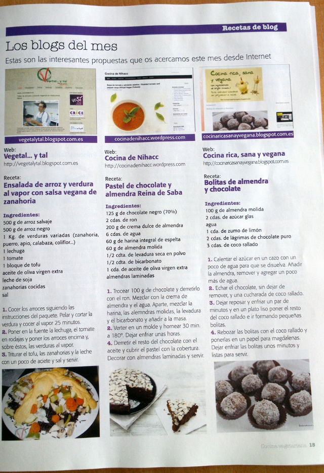 Revista Cocina Vegetariana 2013