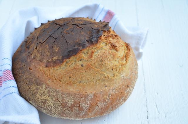 Pan blanco con lino