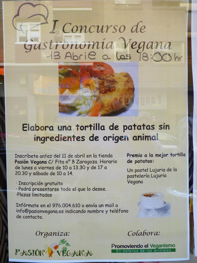 Concurso de tortilla vegana