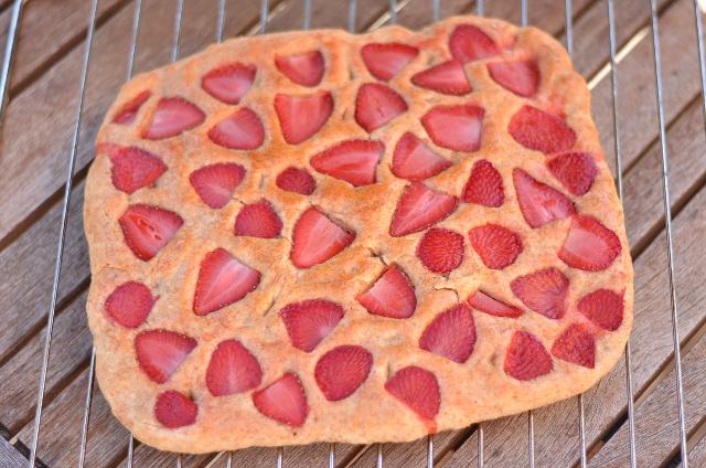 Focaccia integral de fresas