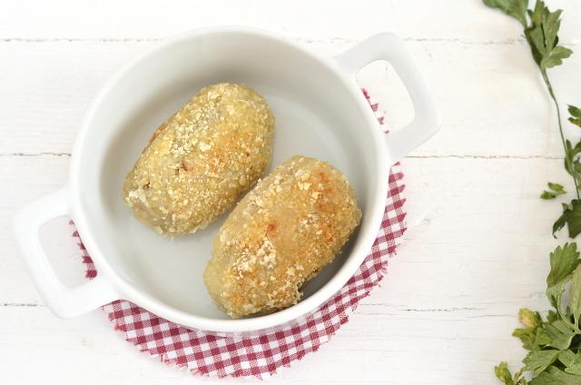 Croquetas de arroz y mijo con champiñón