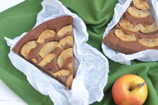 Tarta de sarraceno, almendra y manzana