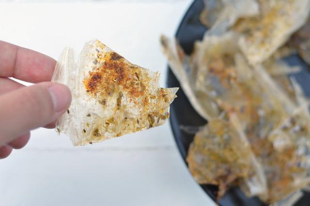 Cortezas de papel de arroz